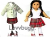 SALE School Uniform with Blazer Set 18 inch Girl Doll Clothes