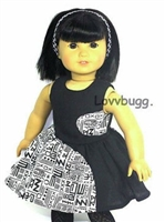 SALE Hugs and Kisses Dress 18 inch American Girl or 15 inch Baby Doll Clothes