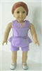 Lavender Romper Set 18 inch Girl or 15 inch Baby Doll Clothes