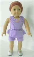 SALE Lavender Romper Set 18 inch American Girl or 15 inch Baby Doll Clothes