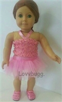 Pink 3D Roses Ballet Costume 18 inch American Girl or 15 inch Baby Doll Clothes