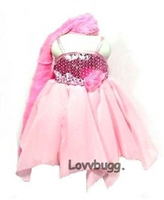 Pink Dream Dress and Shawl 18 inch American Girl Doll Clothes