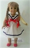 Sailor Dress with Shoes 18 inch Girl or 15 inch Baby Doll Clothes
