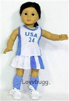 Tennis or Lacrosse Uniform 18 inch American Girl or 15 inch Baby Doll Clothes