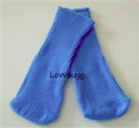 Blue Knee Socks 18 inch Girl or 15 inch Baby Doll Clothes