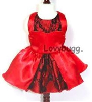 Holiday Kisses Dress 18 inch American Girl Doll Clothes