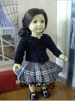 Plaid Skirt and Sweater Set 18 inch Girl Doll Clothes
