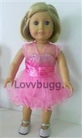 Full Set Glamour in Pink Dress and Shoes 18 inch American Girl or 15 inch Baby Doll Clothes