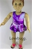 Tie Dye Swimsuit 18 inch Girl or 15 inch Baby Doll Clothes