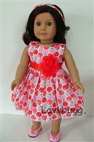 Ripe Apples Dress 18 inch American Girl or 15 inch Baby Doll Clothes