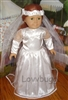 Communion Wedding FHC Quincanueras Dress with Veil 18 inch Girl Doll Clothes