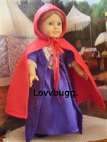 Economy Red Cape Felicity 18 inch American Girl Colonial Style Doll Clothes