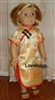 Gold Chinese Asian Dress 18 inch Girl Doll Clothes