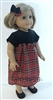 Christmas Plaid Dress with Bow 18 inch American Girl or 15 inch Baby Doll Clothes