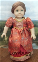 Red Satin Colonial Dancing Dress for 18 inch American Girl Doll Clothes