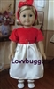 Satin and Velvet Holiday Party Dress 18 inch American Girl or 15 inch Baby Doll Clothes