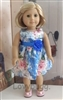 SALE Satin Blue Happiness Dress 18 inch American Girl or 15 inch Baby Doll Clothes