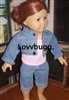 Denim Jacket Capri Set Pink Top 18 inch American Girl or Bitty Baby Doll Clothes