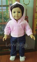 SALE Denim Jeans with Pink Hoodie Set 18 inch American Girl Doll Clothes