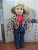 Jeans Leopard Jacket Shirt Set 18 inch American Girl Doll Clothes
