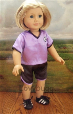 SUPER SALE Purple Soccer Uniform 18 inch American Girl or 15 inch Baby Doll Clothes