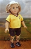 SUPER SALE Yellow and Black Soccer Uniform 18 inch American Girl or 15 inch Baby Doll Clothes