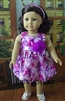 SALE Lavender Tropical Flowers Dress 18 inch American Girl or 15 inch Baby Doll Clothes