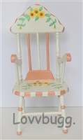 Adorable Chair Sunflowers 18 inch American Girl Doll Furniture