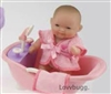 5 inch Mini Baby with Bathtub Accessory Bitty Sister of 18 inch American Girl Doll