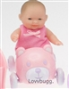 5 inch Mini Baby with Car Accessory Bitty Sister of 18 inch American Girl Doll