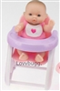 5 inch Mini Baby with Highchair Accessory Bitty Sister of 18 inch Girl Doll