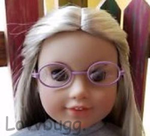 Lavender Oval Eyeglasses 18 Inch Girl Accessory