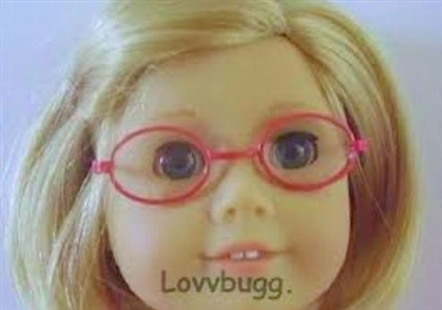 Red Oval Eyeglasses 18 inch American Girl Doll Accessory