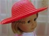 Red Straw Hat 18 inch American Girl Doll Clothes Accessory