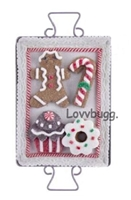 Gingerbread Man Holiday Baking Tray Cookies 18 inch American Girl Doll Food Accessory