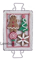 Gingerbread Girl Holiday Baking Tray Cookies 18 inch American Girl Doll Food Accessory