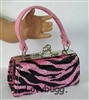 Pink Zebra Glitter Purse 18 inch American Girl Doll Clothes Doll Accessory