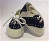 Navy Blue Saddle Oxfords 18 inch American Girl or Bitty Baby 15 inch Doll Shoes Clothes Uniform