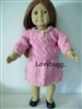 Pink Knit and Crochet Skirt Set 18 to 20 inch Girl or Baby Doll Clothes