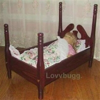 Walnut Bed Hardwood 18 inch American Girl Doll Furniture