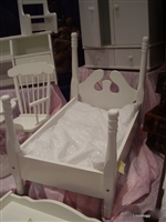 White Bed Hardwood 18 inch American Girl Doll Furniture