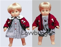 Both Scottie Dog Outfits  15 inch Bitty Twins Baby Doll Clothes
