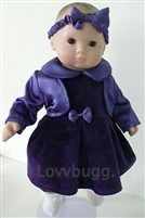 LAST ONE! Navy Velvet and Satin Dress 4pc Set 15 inch Bitty Baby Doll Clothes