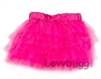 Hot Pink Tulle Skirt Crinoline 18 inch Girl or Bitty Baby Doll Clothes
