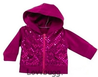 SALE Pink Sequins Hoodie Jacket 18 inch American Girl or Bitty Baby Doll Clothes