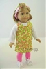 Jumper Blouse and Leggings 18 inch American Girl or Bitty Baby Doll Clothes
