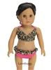 SALE Leopard Bikini Swimsuit 18 inch American Girl or Baby Doll Clothes