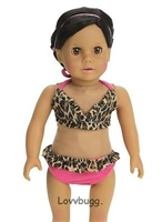 Leopard Bikini Swimsuit 18 inch Girl or Baby Doll Clothes