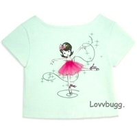 White Ballerina T Shirt 18 inch Girl or Baby Doll Clothes