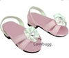 Pink Kitten Heel Sandals 18 inch Girl or Bitty Baby Doll Shoes
